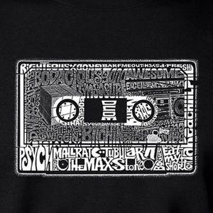 NEW Graphic 80's LA Pop art/word art T-shirt
